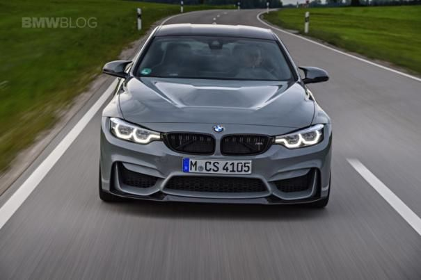 Front view of the BMW M4 CS