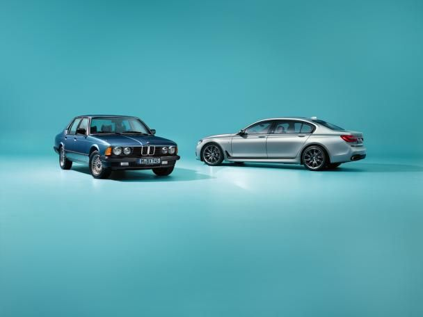 Two color options of the BMW 7-Series Edition 40 Jahre