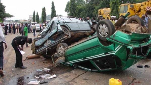 a car crash on Abuja-Lokoja-Okene-Kabba road