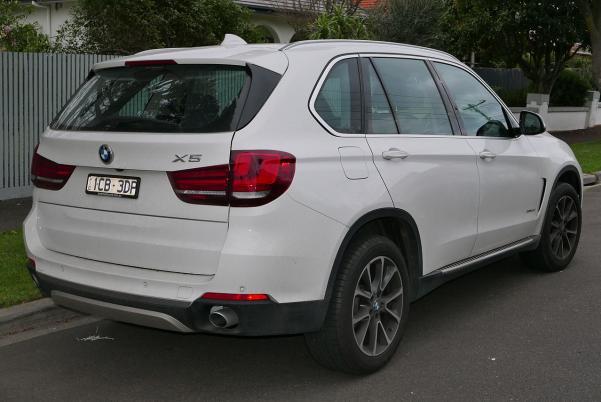 angular rear of the BMW X5