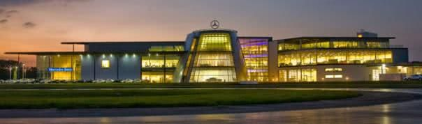 front view of Mercedes-Benz World
