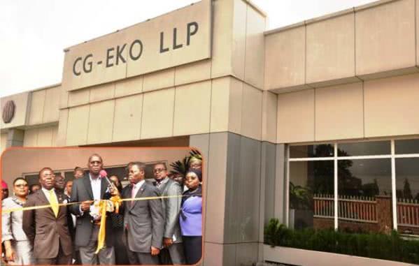delegates at ribbon cutting ceremony at CG-EKO LLP Training Academy