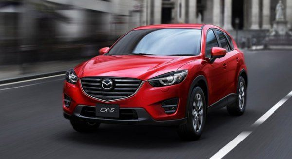 2017 Mazda CX-5 on the road