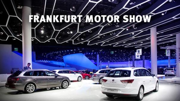 cars on display at Frankfurt Motor Show