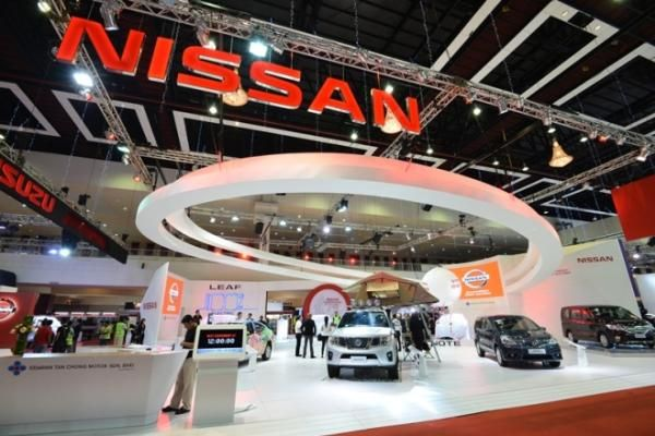 Nissan booth at frankfurt auto show