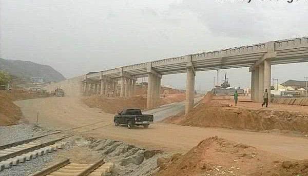 Abuja metro rail under construction