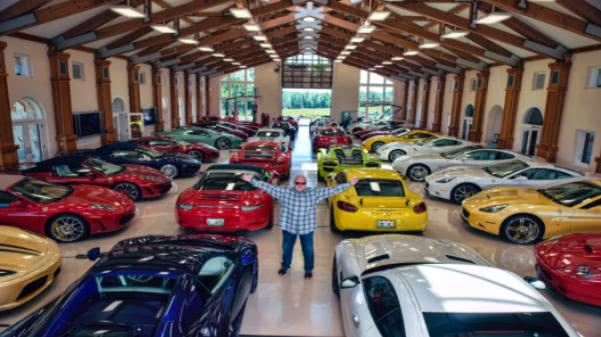 Michael Fux and his car collection