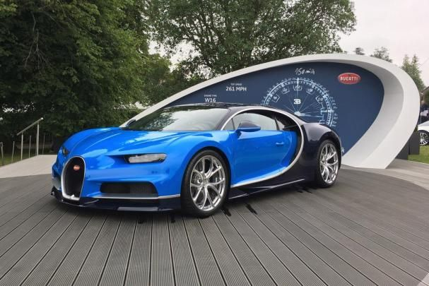 angular front of the Bugatti Chiron