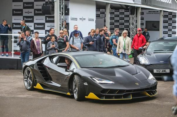 angular front of the Lamborghini Centenario