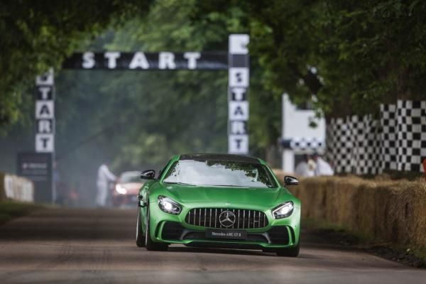 Front view of the Mercedes-AMG GT R