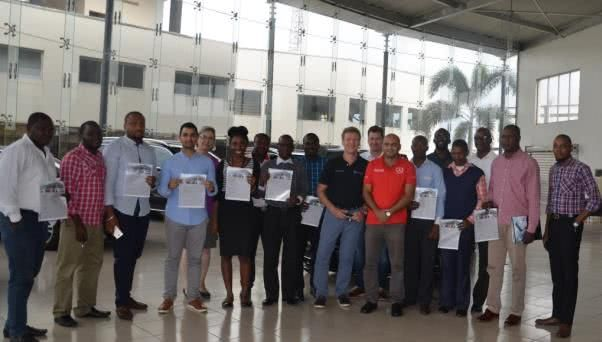 Trainees received certification from the Mercedes-Benz training