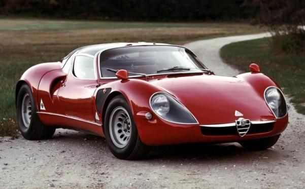 the angular front 1967 Alpha Romeo 33 Stradale