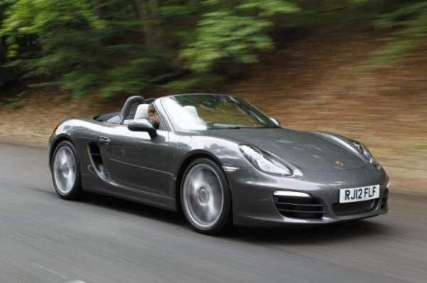 The angular front Porsche Boxster