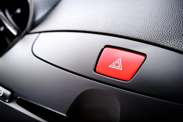 A hazard light button