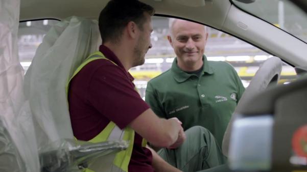 Mourinho visiting the Jaguar prodcution line