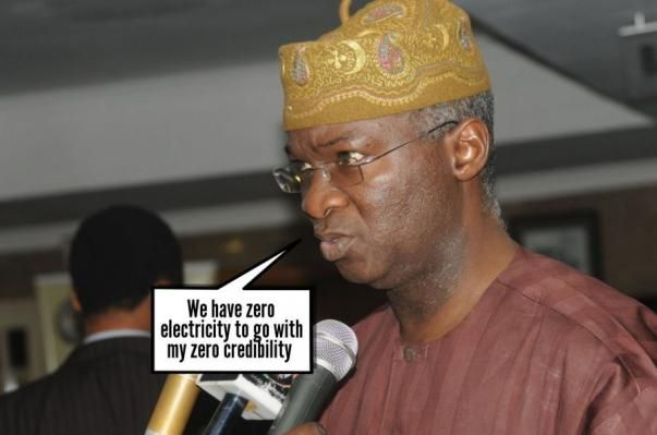 A an official giving remarks on Nigeria electricity situation