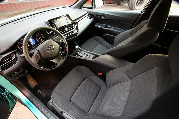 Dashboard area of the Toyota C-HR