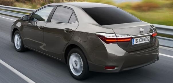 Toyota Corolla 2017 rear angle