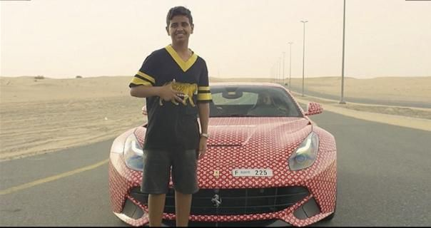 Rashed Belhasa  with his Ferrari F12Berlinetta
