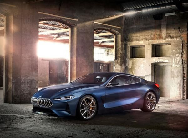 "Angular front of a BMW ""concept 8' series"