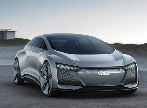 Angular front of the Audi Aicon Concept