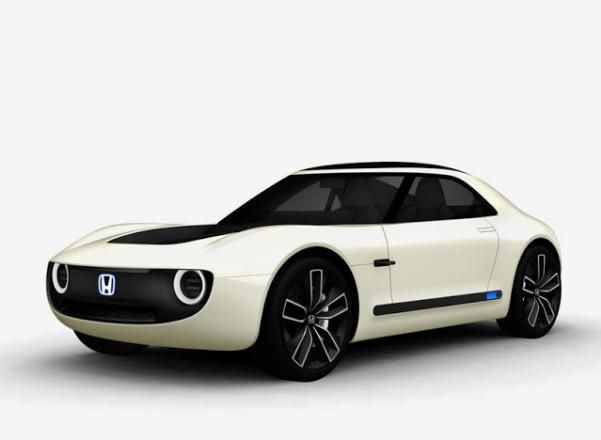 Angular front of the Honda sports EV concept