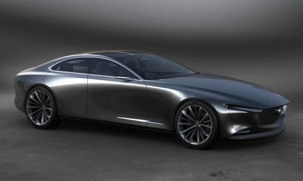 Angular front of the Mazda Vision Coupe concept