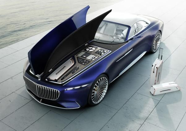 Angular front of the Vision Mercedes-Maybach 6 Cabriolet Concept