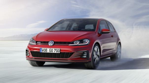 Angular front of the Volkswagen Golf