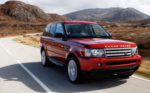 Angular front Range Rover Sport