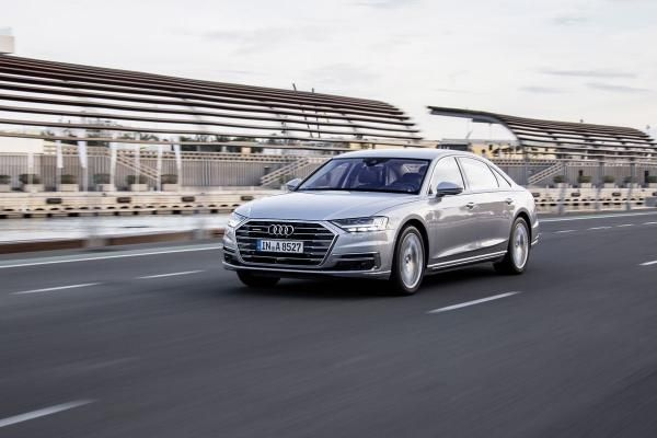 The angular front 2018 Audi A8