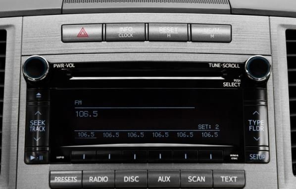 The Toyota Venza 2010 Aux touch screen