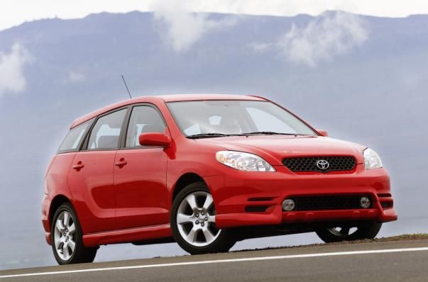 The 2010 Toyota Matrix on the road