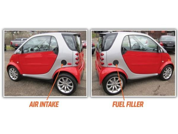 Angular rear of the Smart Fortwo Pulse 2005