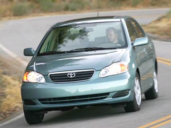 A running Toyota Corolla 2006