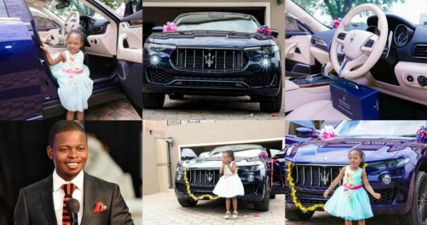 A Maserati car, Prophet Shepherd Bushiri and his daughter