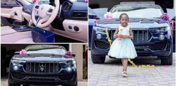 A Maserati car and Prophet Shepherd Bushiri's daughter