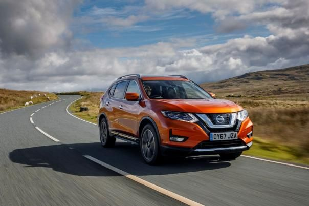 A Nissan X-Trail on the road