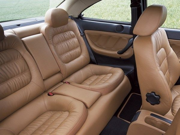 The Peugeot 406 2004 coupe rear seats