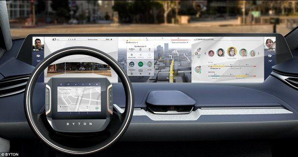 Dashboard area of the new Byton SUV