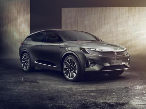 Angular front of a new Byton SUV