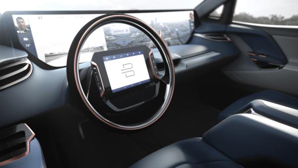 New Byton SUV steering wheel