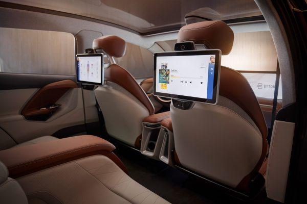 New Byton SUV interior