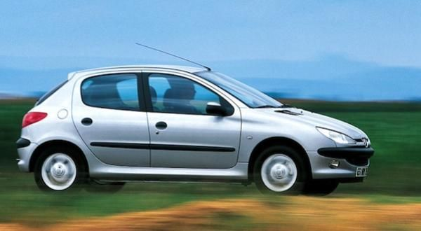 Peugeot 206  2004 on the road