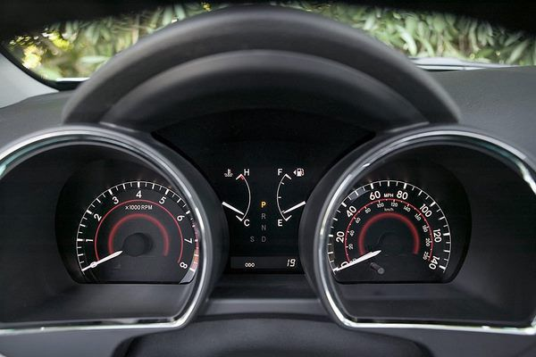 The Toyota Highlander 2008 gauges