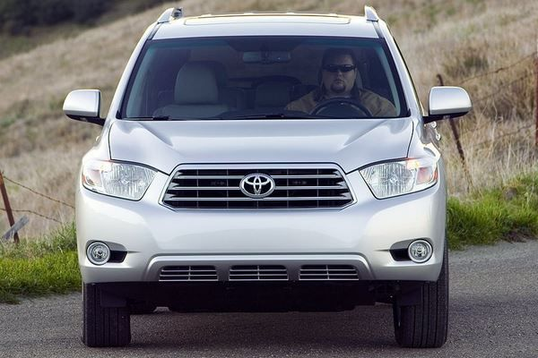 The Toyota Highlander 2008 frontal look