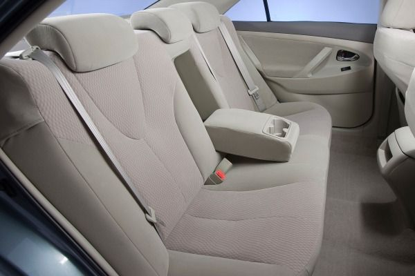 The Toyota Camry 2010's rear seats
