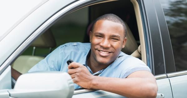 A man buys a used car