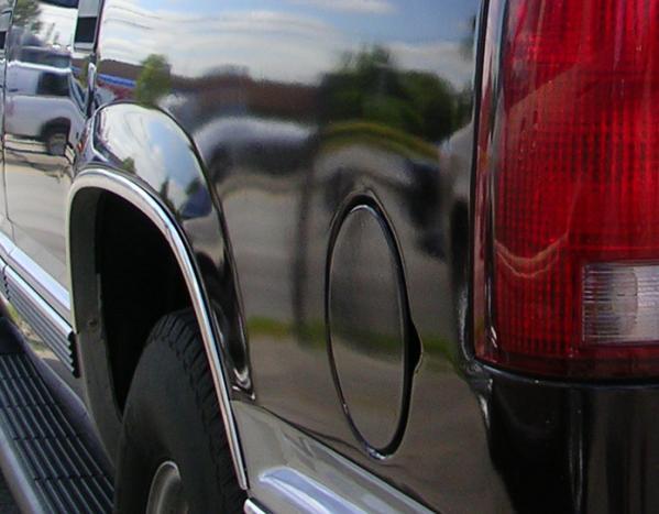 rear corner of an SUV