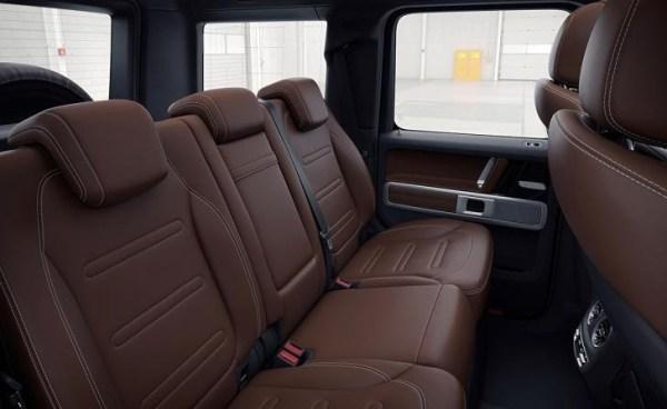 Mercedes G550 G-Wagon 2019 seating